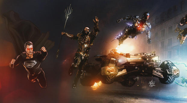 Synder Justice League Concept Art Wallpaper