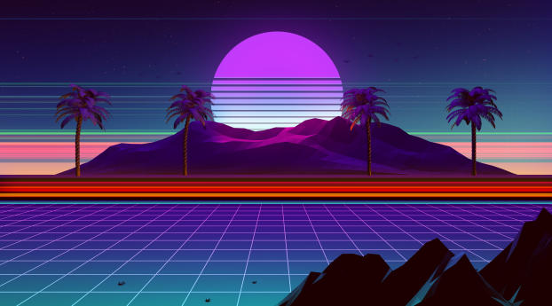 HD Wallpaper | Background Image Synthwave And Retrowave
