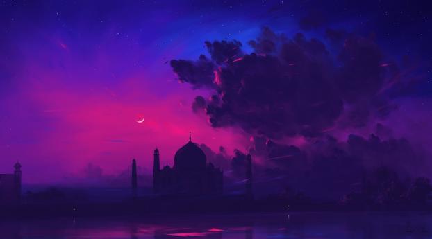 Taj Mahal Digital Art Wallpaper