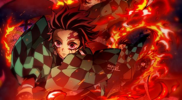 Tanjirou Kimetsu no Yaiba Wallpaper