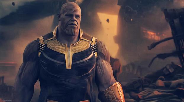 Wallpaper Thanos Avengers Infinity War Artwork Hd: Thanos Avengers Infinity War Artwork, HD 4K Wallpaper