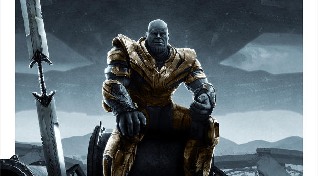 HD Wallpaper | Background Image Thanos Sitting In Avengers Endgame
