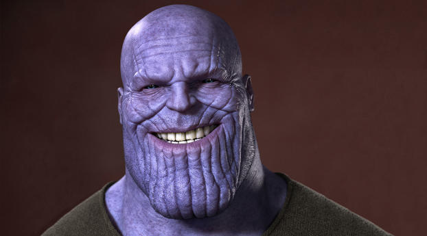 HD Wallpaper | Background Image Thanos Smiling