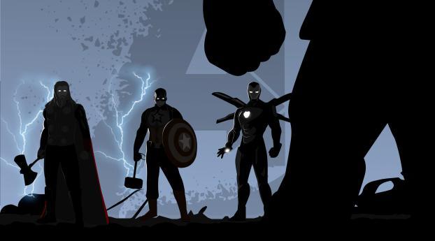 HD Wallpaper | Background Image Thanos vs Trinity