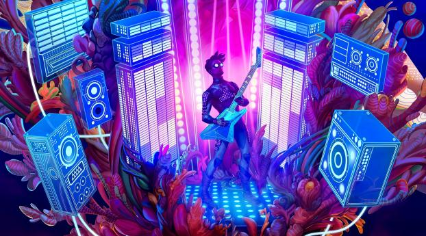 The Artful Escape HD Gaming Wallpaper 480x484 Resolution
