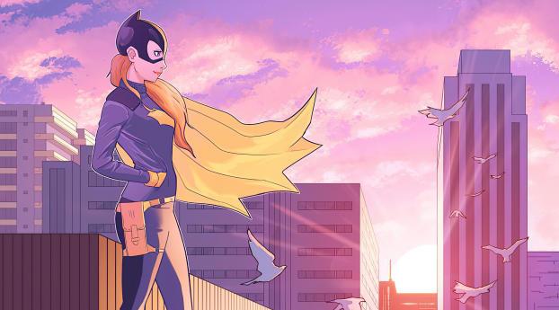 The Batgirl City Wallpaper