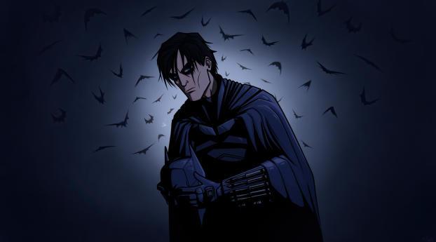 The Batman Cartoon Art Wallpaper