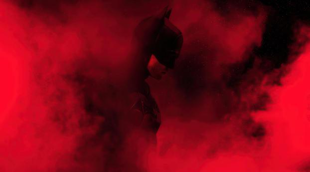 The Batman Red Theme Dope Wallpaper
