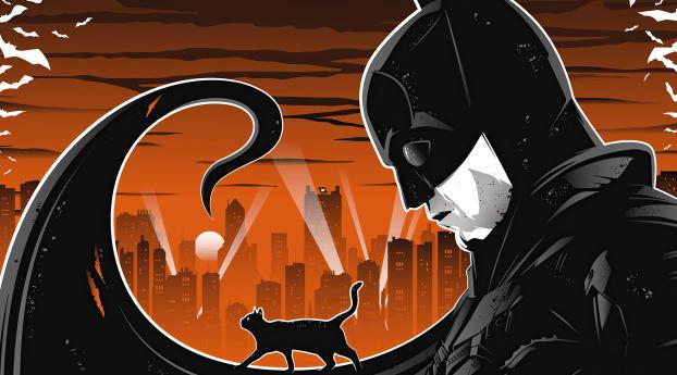 The Batman Robert Pattinson Illustration Wallpaper 1600x900 Resolution