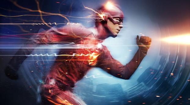 The Flash Grant Gustin Superhero Wallpaper 1440x2560 Resolution