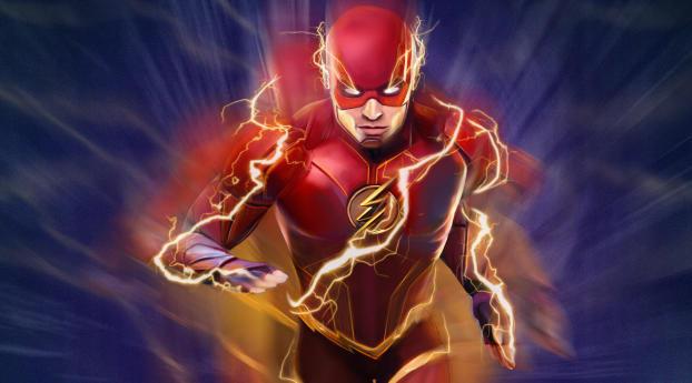 The Flash Lightning Art Wallpaper