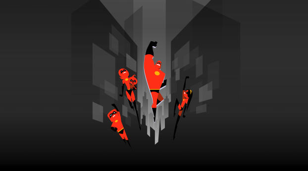 HD Wallpaper | Background Image The Incredibles 2 Minimal Art Poster