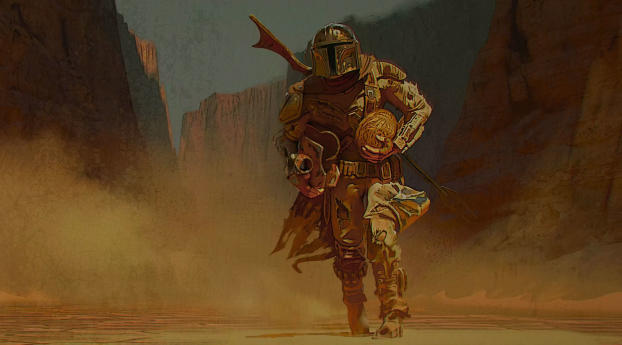 HD Wallpaper | Background Image The Mandalorian Art 2020