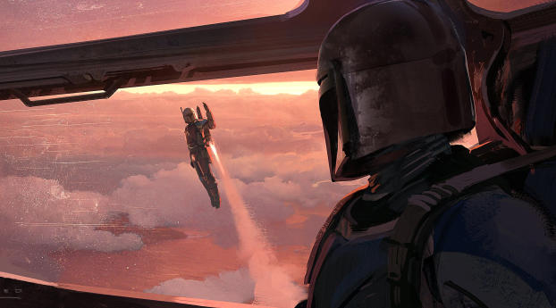 HD Wallpaper | Background Image The Mandalorian Chapter 4 Art