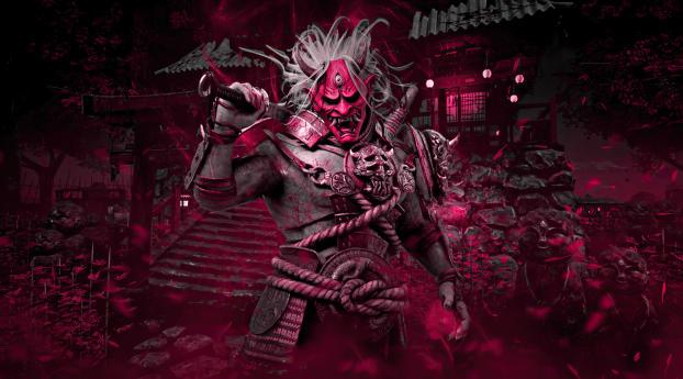 The Oni Dead by Daylight Kazan Yamaoka Wallpaper 720x1280 Resolution