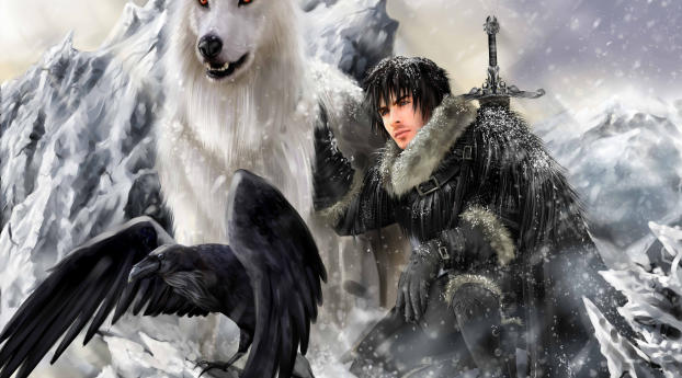 the song of ice and fire, game of thrones, jon snow Wallpaper in 1024x768 Resolution