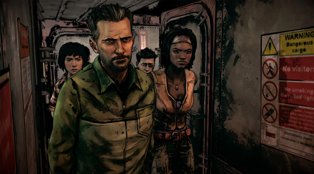 HD Wallpaper | Background Image The Walking Dead The Telltale Graphic Black