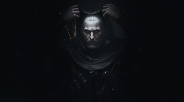The Witcher 3 Wild Hunt Poster Wallpaper 1360x768 Resolution