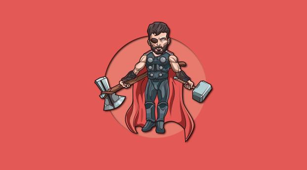 HD Wallpaper | Background Image Thor 4K  MCU Art