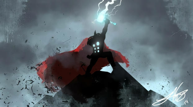 HD Wallpaper | Background Image Thor Lighting New Art