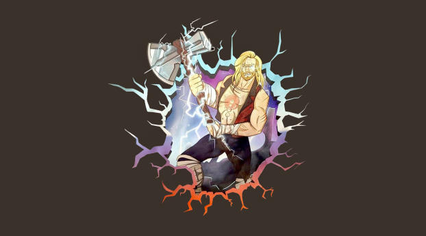 Thor Love and Thunder Minimal Wallpaper