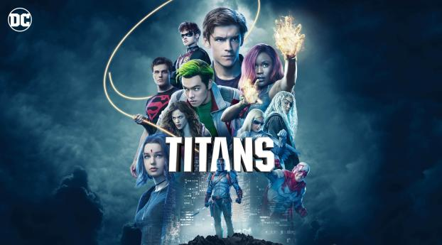 Titans Show Official Poster Wallpaper 240x320 Resolution