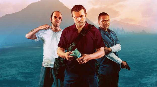 HD Wallpaper | Background Image Trevor, Franklin and Michael in GTA