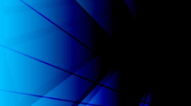 Triangle Geometric Blue Amoled Art 5K Wallpaper