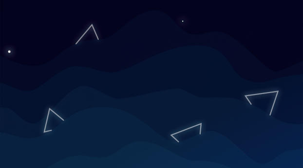 Triangles Abstract Sky Wallpaper