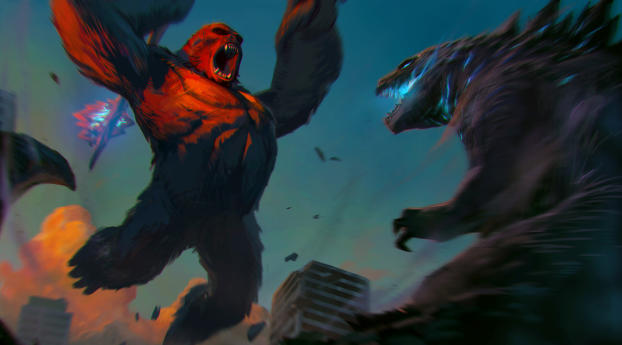 Two Titans Fighting Wallpaper 1366x768 Resolution