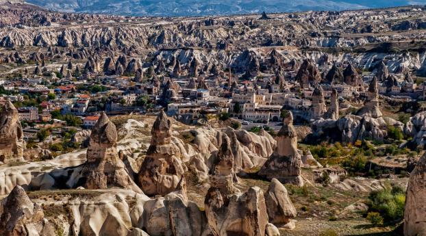 Uchisar Cappadocia Turkey Wallpaper Hd Nature 4k