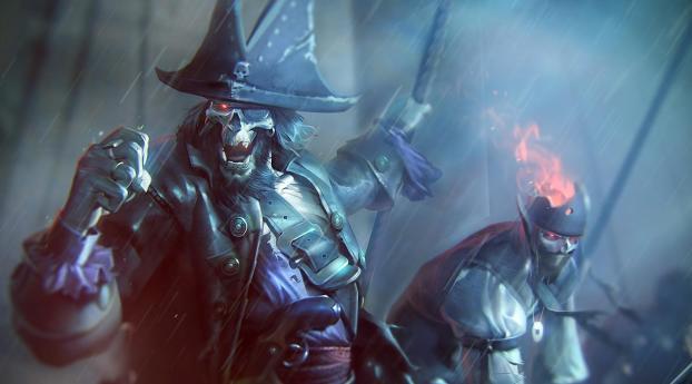 undead, pirates, rain Wallpaper 2560x1700 Resolution