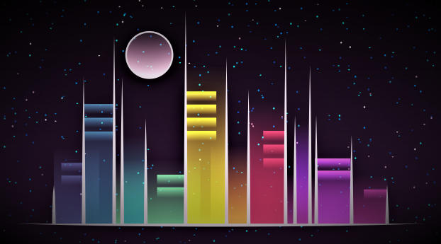 Vector Celestial City Wallpaper 1152x864 Resolution