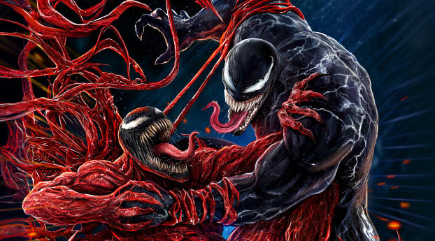 Venom Let There Be Carnage Cool Art Wallpaper 2560x1440 Resolution