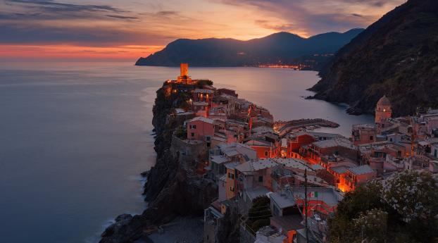 HD Wallpaper | Background Image Vernazza Italy Sea And Mountains Nature Landscape