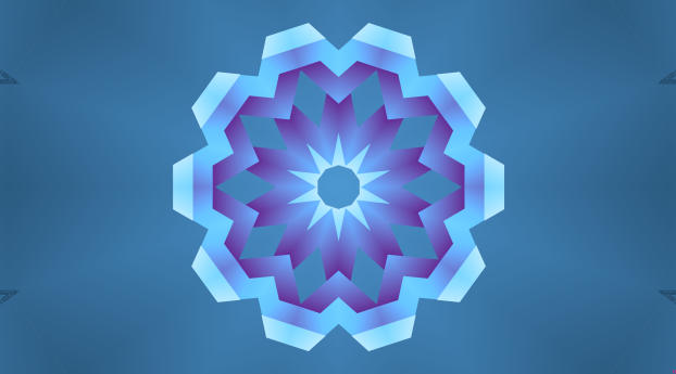 HD Wallpaper | Background Image Violet Kaleidoscope Digital Art