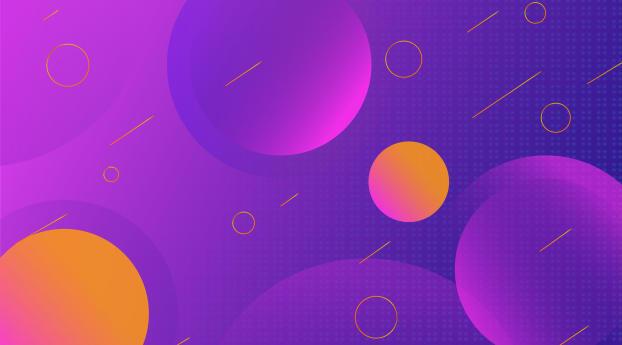 HD Wallpaper | Background Image Violet Pink Circle Design