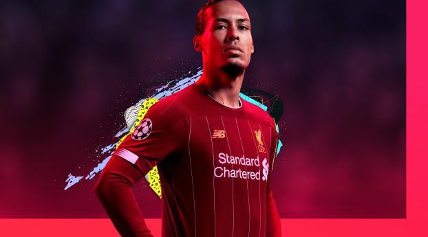 Virgil Van Dijk FIFA 20 Poster Wallpaper, HD Games 4K