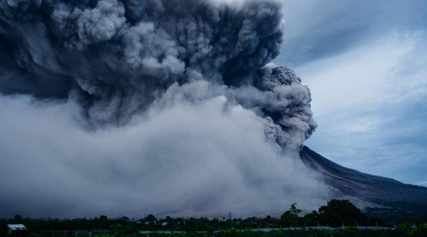 HD Wallpaper   Background Image volcano, explosion, eruption