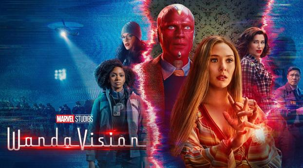 WandaVision All Character Poster Wallpaper