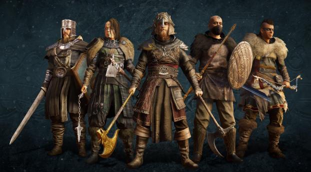 Warriors of Assassin's Creed Valhalla Wallpaper