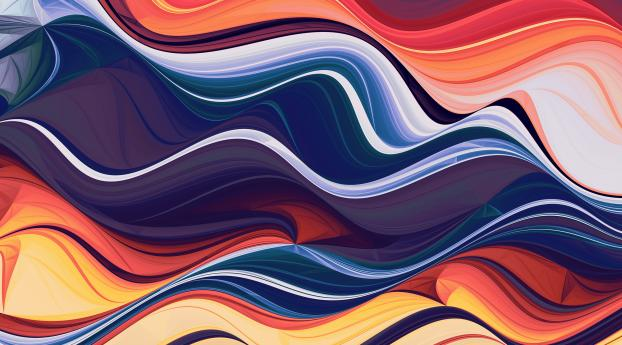 HD Wallpaper | Background Image Wave Of Abstract Colors