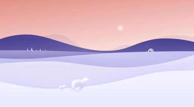 wxl winter night minimalist 4k 68411
