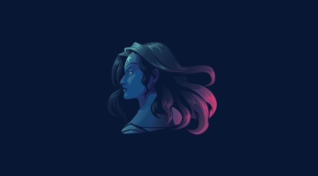 HD Wallpaper | Background Image Wonder Woman 5K Minimalist