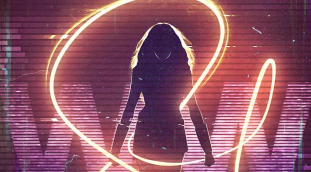 HD Wallpaper | Background Image Wonder Woman Lightning Swing Art