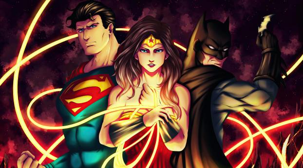 Wonder Woman Superman and Batman Traio Wallpaper