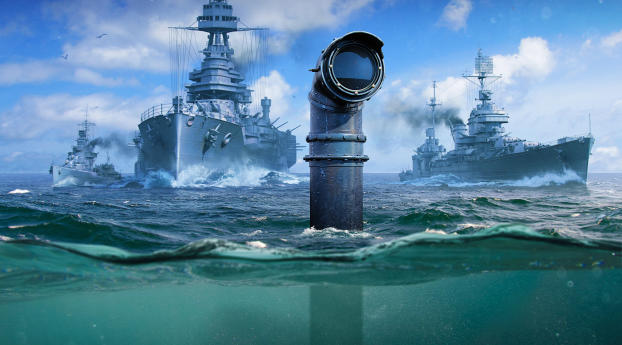 HD Wallpaper   Background Image World of Warships Submarine
