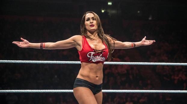 Wwe Nikki Bella In Wrestling Ring Pose, Full HD 2K Wallpaper