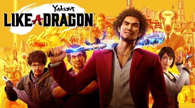 HD Wallpaper   Background Image Yakuza Like a Dragon Poster