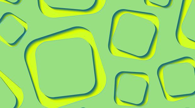 Yellow Lime Shape 3d Green Wallpaper Hd Abstract 4k